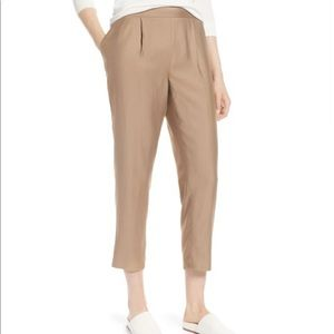 NWT Halogen Pull-On Ankle Pants Tan Greige